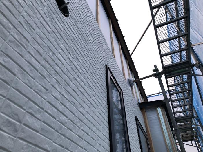 新築住宅の外壁施工です。 郡山市 新築住宅 大原工務店のブログ