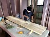 カウンター材の加工です。|郡山市 新築住宅 大原工務店のブログ