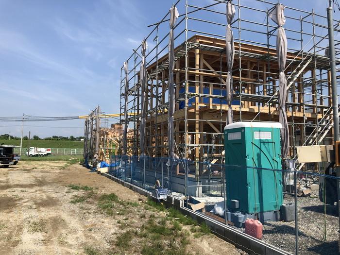 2世帯住宅の上棟です。 郡山市 新築住宅 大原工務店のブログ