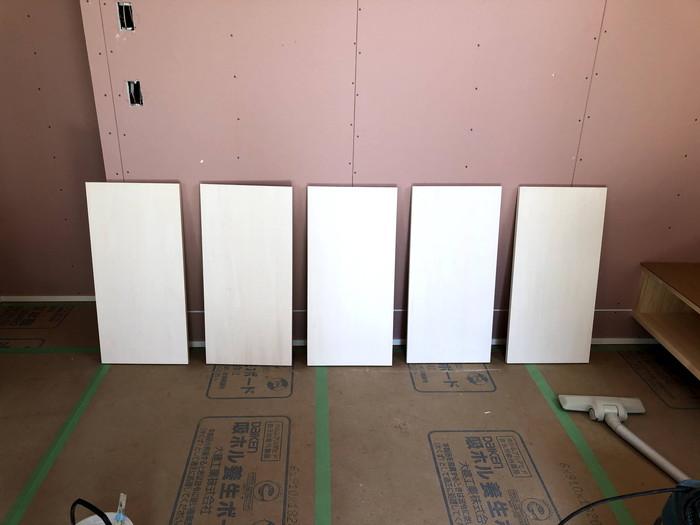 棚板の塗装完了です。|郡山市 新築住宅 大原工務店のブログ