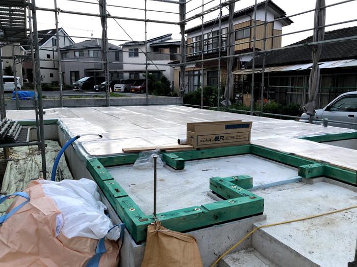 上棟前の様子です。|郡山市 新築住宅 大原工務店のブログ