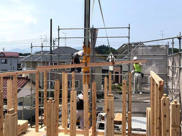 2階の上棟です。|郡山市 新築住宅 大原工務店のブログ