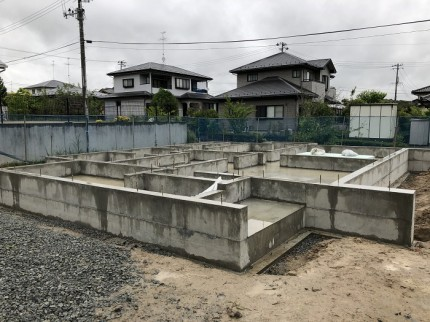 新築住宅の基礎部分です。須賀川市北横田|郡山市 新築住宅 大原工務店のブログ