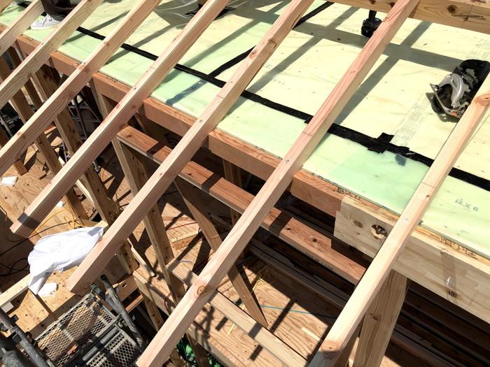高気密住宅の施工です。|郡山市 新築住宅 大原工務店のブログ
