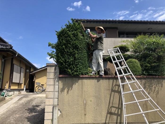 庭の手入れです。|郡山市 新築住宅 大原工務店のブログ