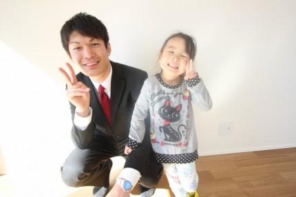 R様の娘さんと伊藤 福島県会津若松市|郡山市 新築住宅 大原工務店のブログ