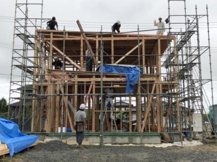 あっという間に上棟しました。須賀川市北横田|郡山市 新築住宅 大原工務店のブログ