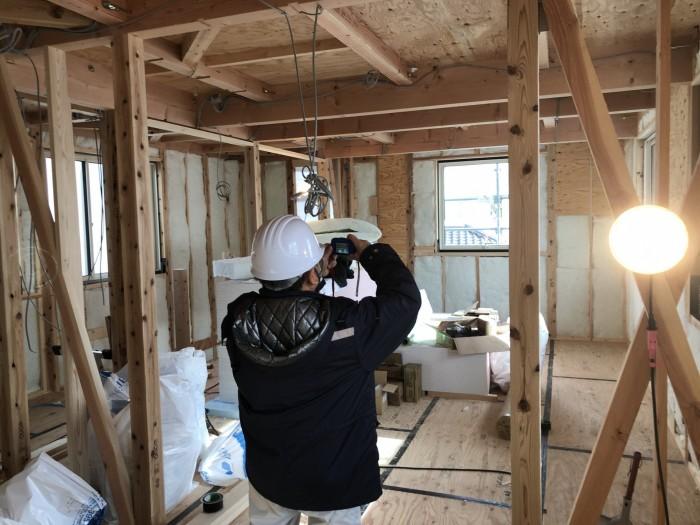 写真を撮って隅々まで検査していただきます。郡山市熱海町  郡山市 新築住宅 大原工務店のブログ