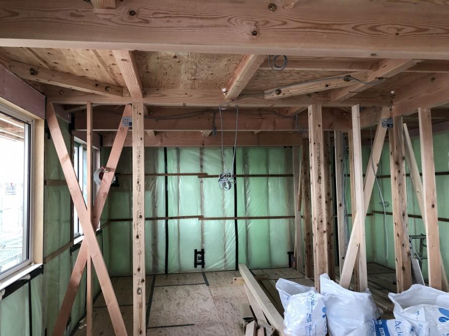 綺麗な現場は測定結果も良好です。|郡山市 新築住宅 大原工務店のブログ