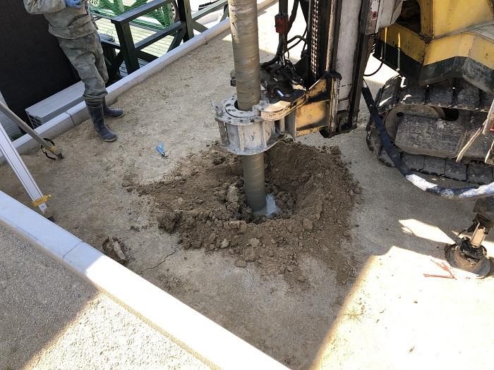 柱状改良工事を行っています 郡山市富久山町 |郡山市 新築住宅 大原工務店のブログ