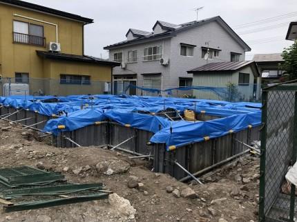 立ち上がりの養生です。福島県会津若松市|郡山市 新築住宅 大原工務店のブログ