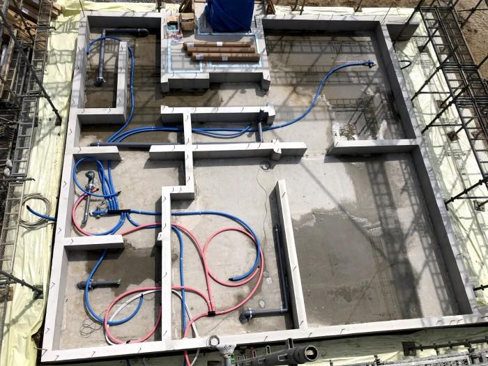 配管の全体の様子です。郡山市片平町|郡山市 新築住宅 大原工務店のブログ