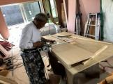 大原工務店で新築注文住宅建築中I様邸、造作の収納を作っていきます。郡山市台新| 郡山市 新築住宅 大原工務店のブログ
