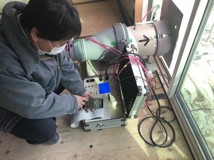 気密測定無事クリアでした。田村郡三春町| 郡山市 新築住宅 大原工務店のブログ
