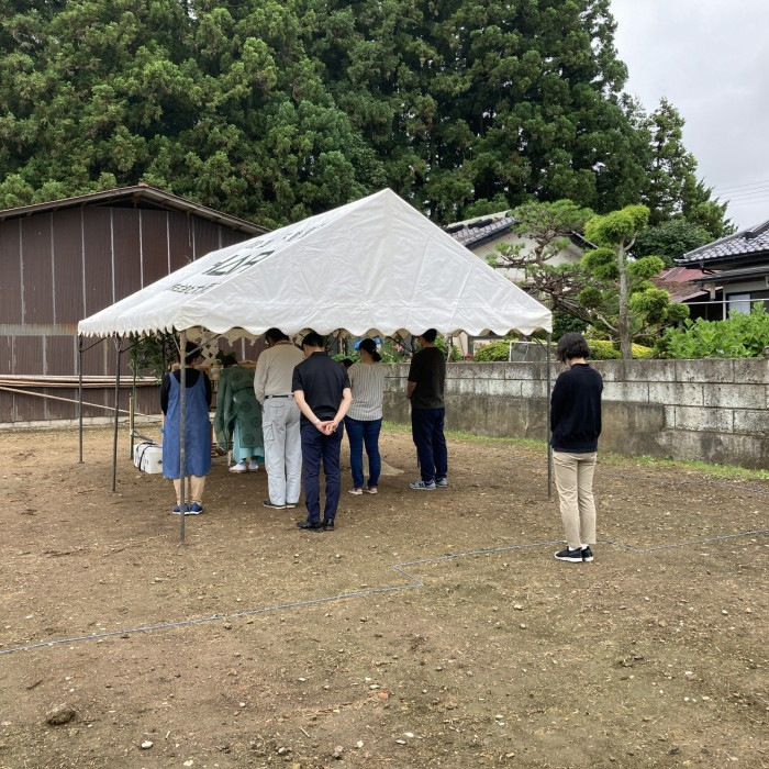 地鎮祭が執り行われました S様邸 須賀川市泉田 郡山市 新築住宅 大原工務店のブログ