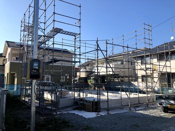 大原工務店で新築注文住宅建築中W様邸、土台入れが始まりました。郡山市長者| 郡山市 新築住宅 大原工務店のブログ