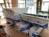 旭ファイバーグラスさんのアクリアウールを使用しています。郡山市安積町|郡山市 新築住宅 大原工務店のブログ