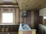 クロスの下地処理をした写真です。須賀川市和田H様邸| 郡山市 新築住宅 大原工務店のブログ