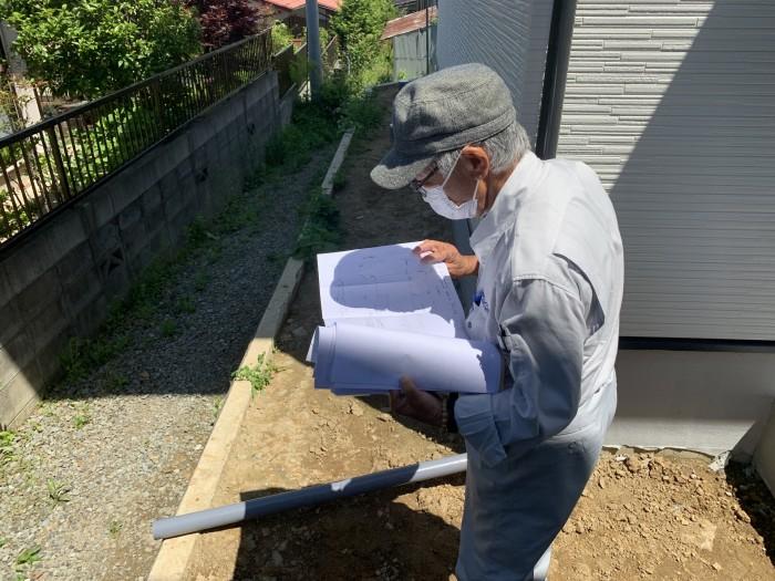 お家の外の検査です。郡山市深沢|郡山市 新築住宅 大原工務店のブログ