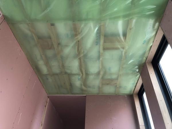 防湿気密シート施工完了です。|郡山市 新築住宅 大原工務店のブログ