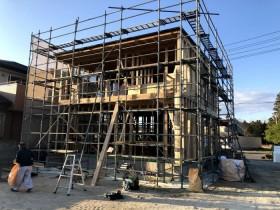 上棟後の様子です。郡山市片平町|郡山市 新築住宅 大原工務店のブログ