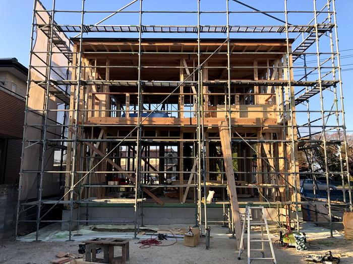 新築住宅の上棟完了です。 郡山市 新築住宅 大原工務店のブログ