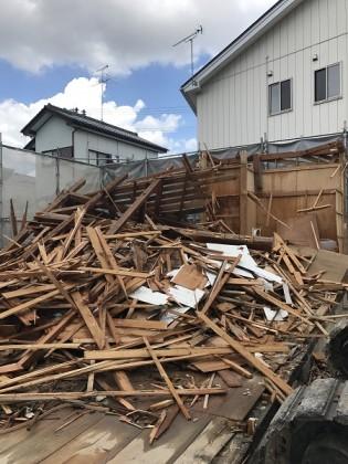 郡山市富田町T様邸 新築工事前の解体作業、無事終了しました!