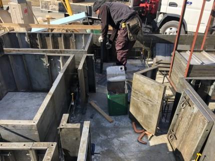 べた基礎の立ち上がり型枠工事です。|郡山市 新築住宅 大原工務店のブログ
