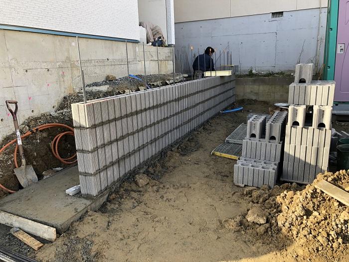 外構工事も進行中です 郡山市菜根  郡山市 新築住宅 大原工務店のブログ