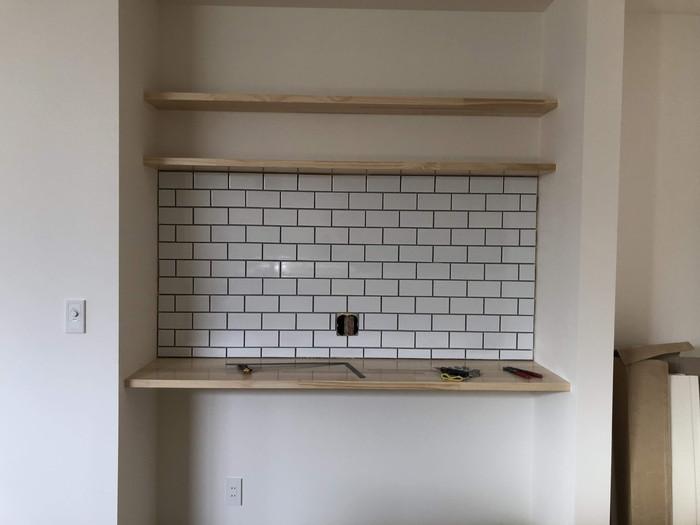 タイルの完成です。|郡山市 新築住宅 大原工務店のブログ