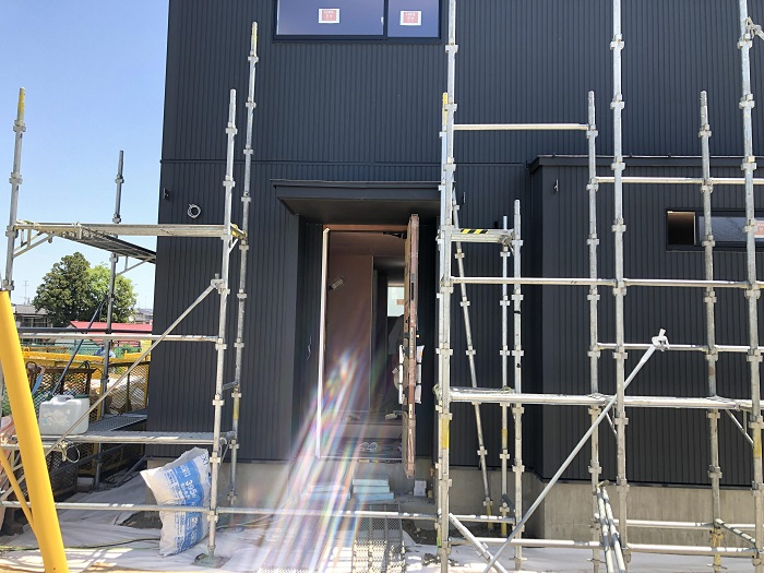 足場が外れました 郡山市富田町 |郡山市 新築住宅 大原工務店のブログ