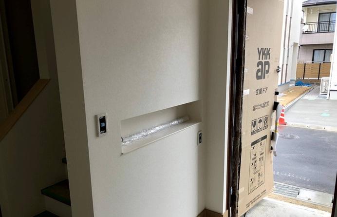 オシャレな玄関ニッチがあります。郡山市喜久田町  郡山市 新築住宅 大原工務店のブログ