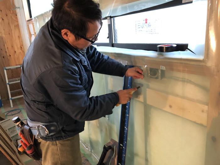コンセントの気密処理です。|郡山市 新築住宅 大原工務店のブログ