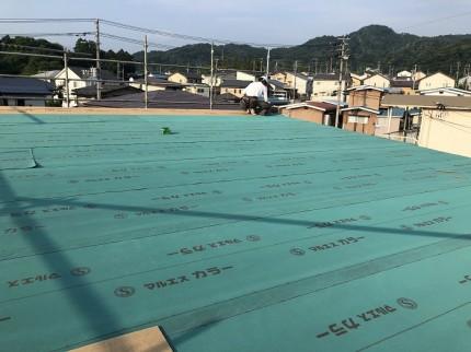 風防下げ降りで、建物が垂直か確認します。福島県会津若松市|郡山市 新築住宅 大原工務店のブログ