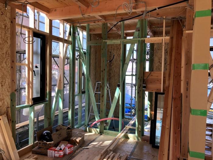 サッシが丁寧に取り付けられています。郡山市片平町|郡山市 新築住宅 大原工務店のブログ