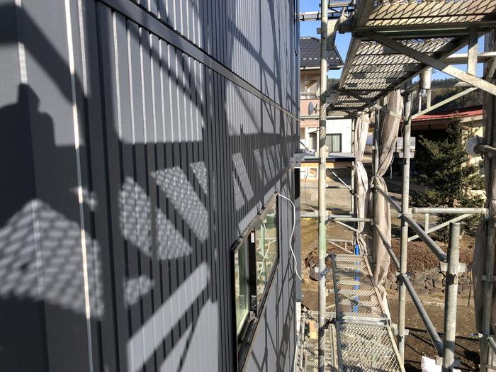 アーバンストライプを貼った様子です。福島県二本松市| 郡山市 新築住宅 大原工務店のブログ