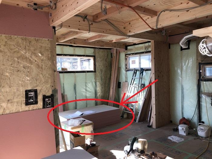 これから張っていく石膏ボードです。二本松市Y様邸| 郡山市 新築住宅 大原工務店のブログ