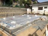 捨てコンクリートが完了です。|郡山市 新築住宅 大原工務店のブログ