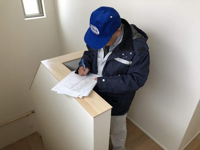 内部の検査の様子です 郡山市菜根  郡山市 新築住宅 大原工務店のブログ