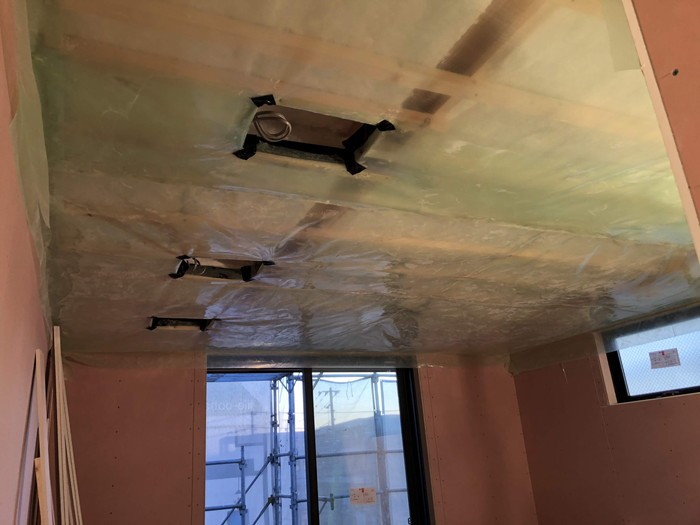 2階の気密検査です。|郡山市 新築住宅 大原工務店のブログ