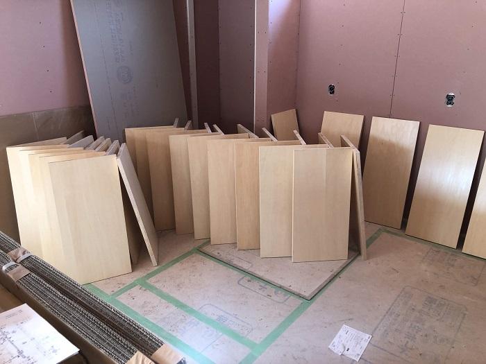 塗装した可動棚です 郡山市富田町 |郡山市 新築住宅 大原工務店のブログ