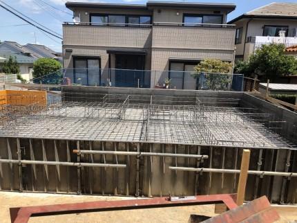コンクリートを打つ前の基礎の様子です。本宮市葭ヶ入|郡山市 新築住宅 大原工務店のブログ