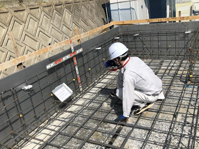 第三者機関の配筋検査です。|郡山市 新築住宅 大原工務店のブログ