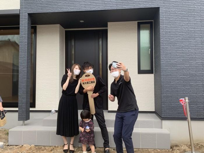 新築注文住宅C様邸、お引渡し式のオフショットです。郡山市開成  郡山市 新築住宅 大原工務店のブログ