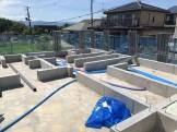 基礎工事が終わり、これから土台入れです。郡山市田村町|郡山市 新築住宅 大原工務店のブログ