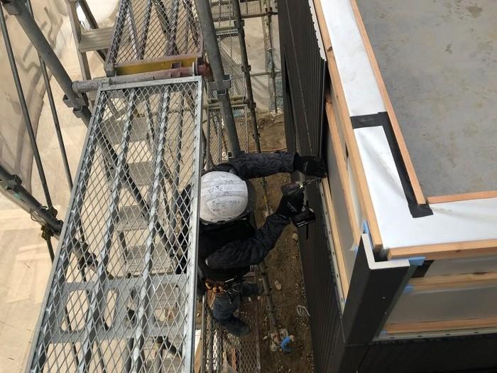 大原工務店で新築注文住宅建築中I様邸、外壁を貼っていきます。郡山市富久山町| 郡山市 新築住宅 大原工務店のブログ