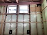 気密処理の様子です。郡山市安積町|郡山市 新築住宅 大原工務店のブログ