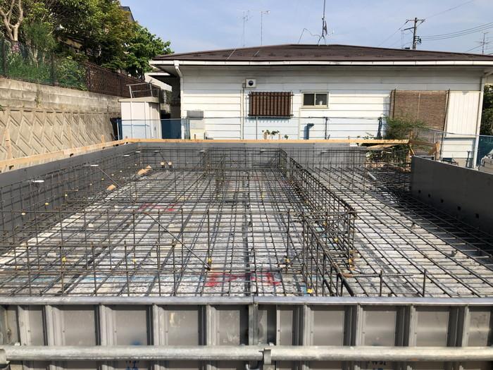 べた基礎の配筋完了です。|郡山市 新築住宅 大原工務店のブログ