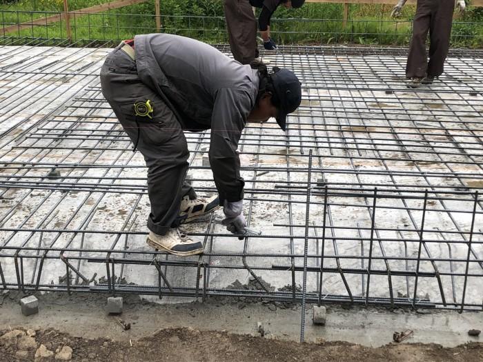 べた基礎の鉄筋組みです。|郡山市 新築住宅 大原工務店のブログ
