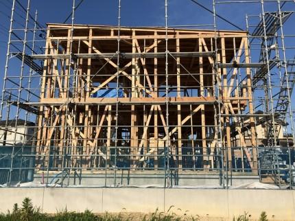 新築注文住宅N様邸、上棟の全景です。郡山市田村町|郡山市 新築住宅 大原工務店のブログ